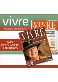 MAGAZINE VIVRE - PACK DECOUVERTE 5 NUMEROS