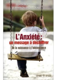 L'ANXIETE : UN MESSAGE A DECHIFFRER