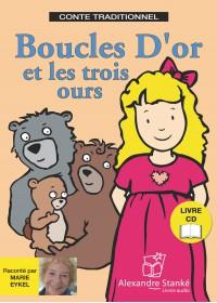 BOUCLES D'OR ET LES TROIS OURS - LIVRE ET CD AUDIO - CONTE POUR ENFANT