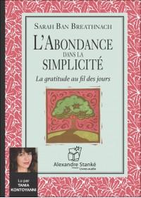 CD - L'ABONDANCE DANS LA SIMPLICITÉ