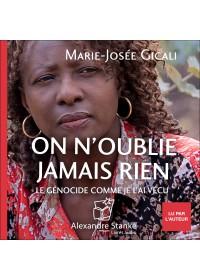 ON N'OUBLIE JAMAIS RIEN - Audio Numérique