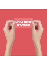 AUTOCOLLANT INSPIRANT STATIQUE MÉGA DOSE D'AMOUR