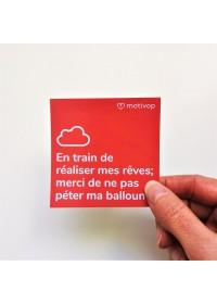AUTOCOLLANT INSPIRANT EN TRAIN DE RÉALISER MES RÊVES ...