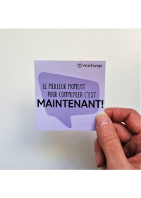 AUTOCOLLANT INSPIRANT LE MEILLEUR MOMENT POUR COMMENCER C'EST MAINTENANT !